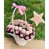Hoşgeldin Bebek Figürlü Çikolata Sepeti